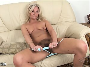 Mature wooly blond heads for a walk and talks dirty.