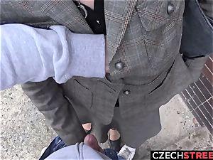 Czech milf secretary Pickup up and banged