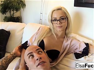 point of view nail session with Elsa Jean